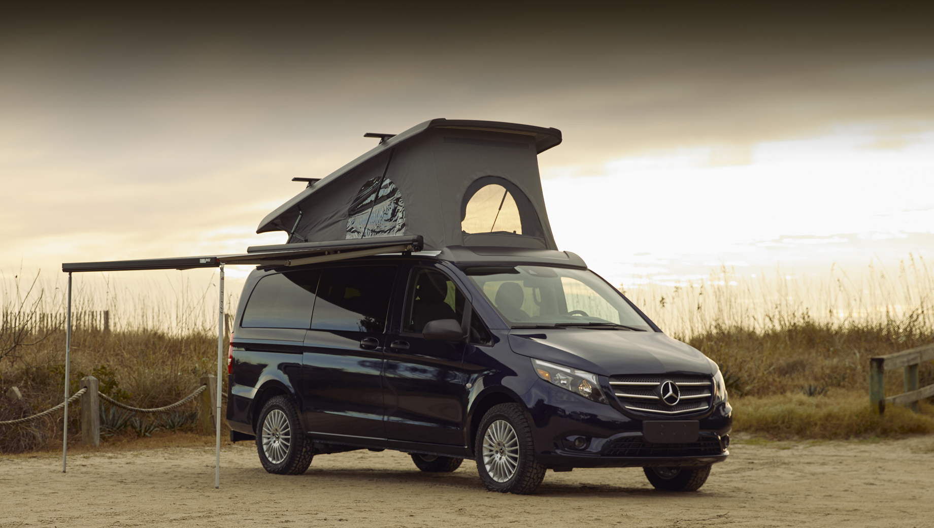 Mercedes-Benz is selling its Vito minivan model as the Metris in the United States, offering it in a number of passenger and commercial versions. Starting this week, a campervan version joins the list at a $26,400 premium over the entry spec.
