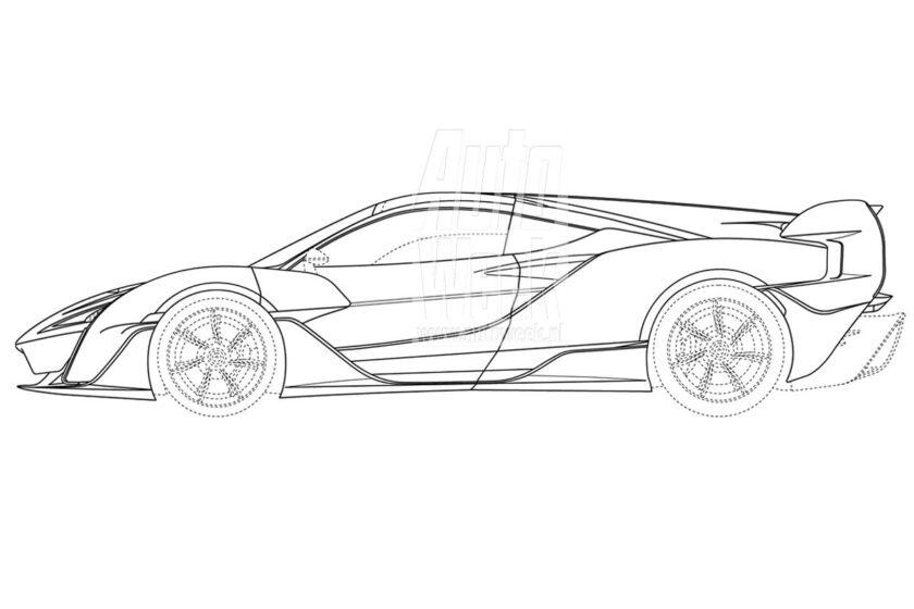 В 2021 году McLaren должен представить модель Sabre из линейки Ultimate Series: гиперкар с бензоэлектрической установкой уже был заснят шпионами, а теперь опубликованы патентные рисунки.