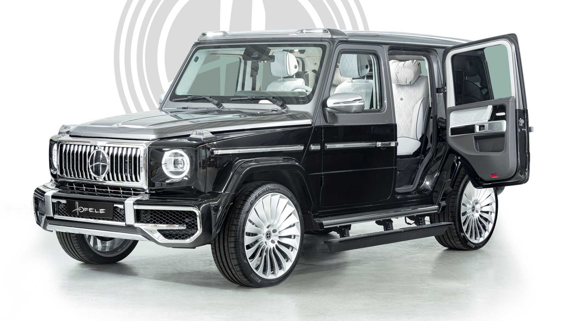 """Munich-based luxury car tuner Hofele has unveiled the Ultimate HG, a modded Mercedes G-Class that it calls """"an ultra-opulent cross between a limo and an SUV."""""""
