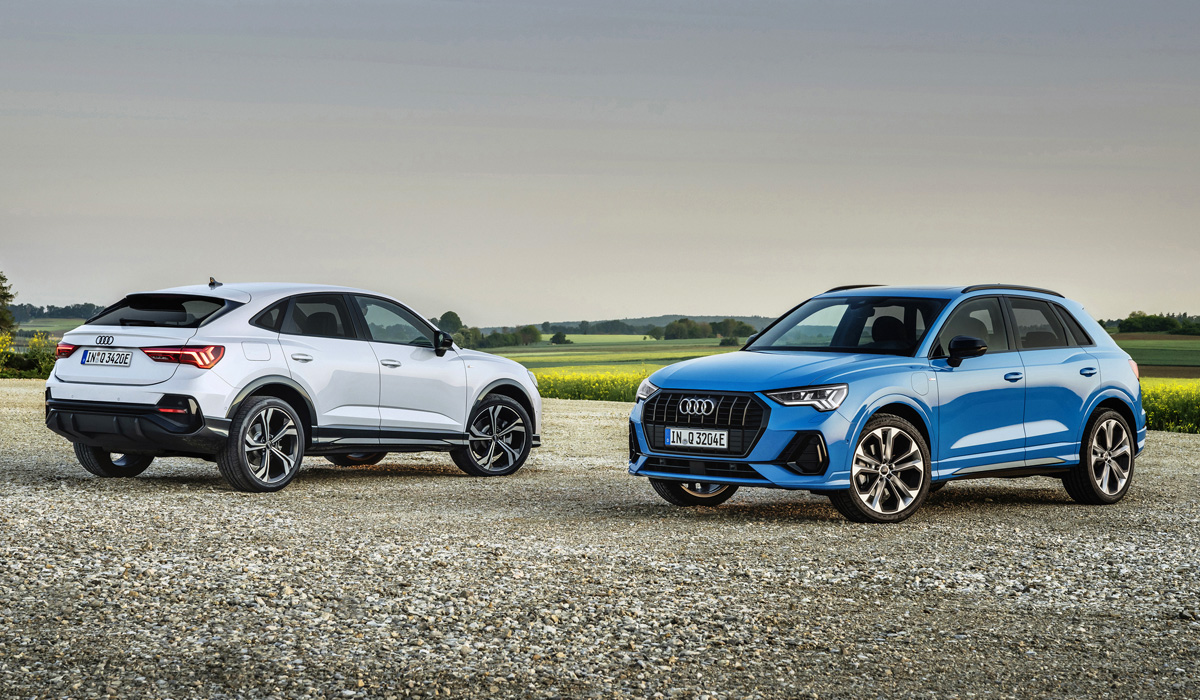 The new Audi Q3 45 TFSI e is the first plug-in hybrid Q3 on the market. It utilizes the same tech as other MQB-based EVs, and customers can choose between standard and Fastback body.
