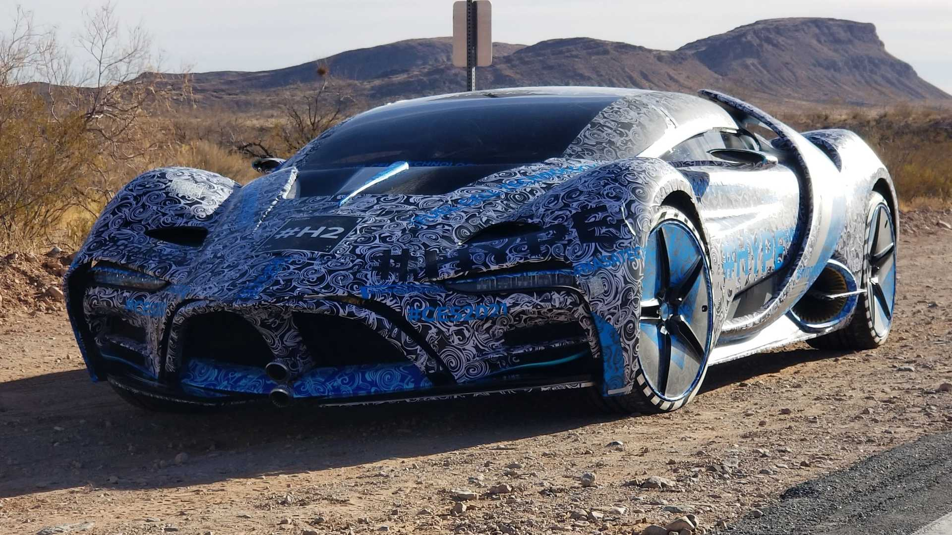 Automaker Hyperion wasn't too happy to only show us its hydrogen supercar, the XP-1, online at the CES-2021, so it took it to Las Vegas for a round of drive tests.