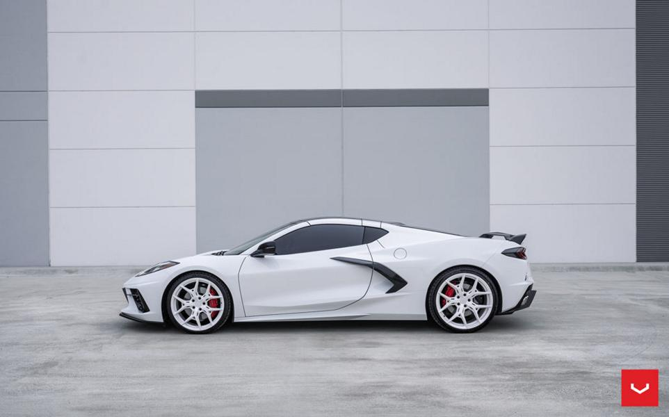The C8 Corvette is quite a sight to behold, but those seeking more individuality are invited to contact Vossen Wheels for a set of custom forged rims.