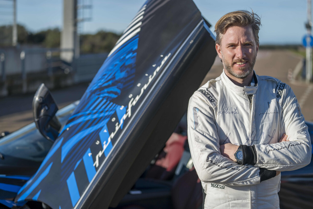 Automobili Pininfarina continues testing its Battista hypercar on Nardo Raceway, this time around with ex-Formula One pilot Nick Heidfeld behind the rudder.
