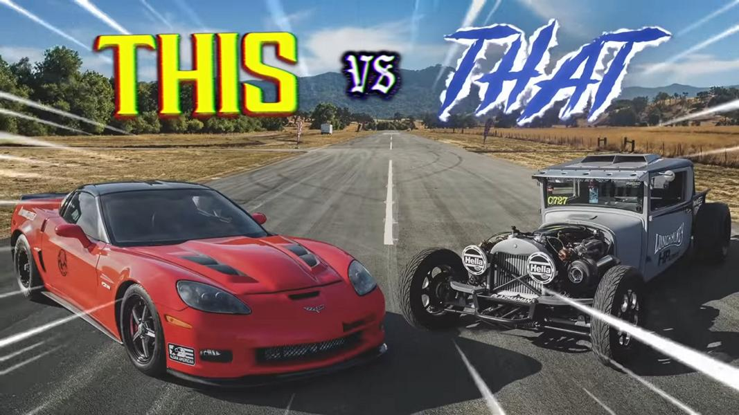 How do you like the idea of a quarter-mile drag race between a vintage Dodge Hot Rod Pickup and a modern Chevrolet Corvette Z06 fitted with an AWD transmission and capable of 1,200 horsepower? Sounds a bit stupid, doesn't it? Watch the video; you'll change your mind soon.