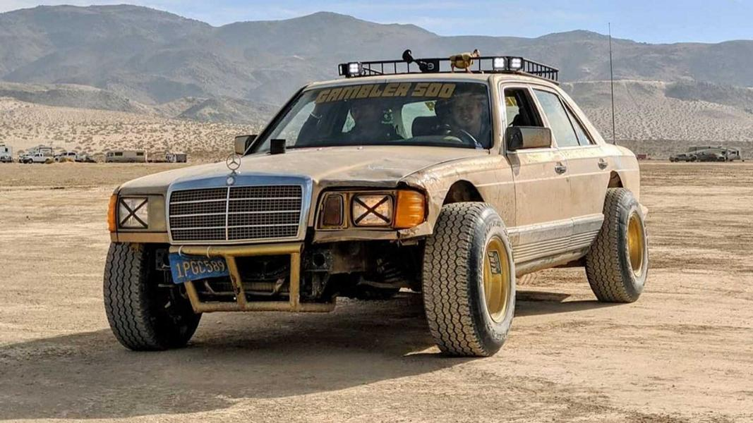 Car tuning does not have to be ludicrously expensive: a good example comes in the shape of this elderly Mercedes-Benz 300 SD (W 126), which transformed into a no-nonsense diesel-powered rally car for less than $800.