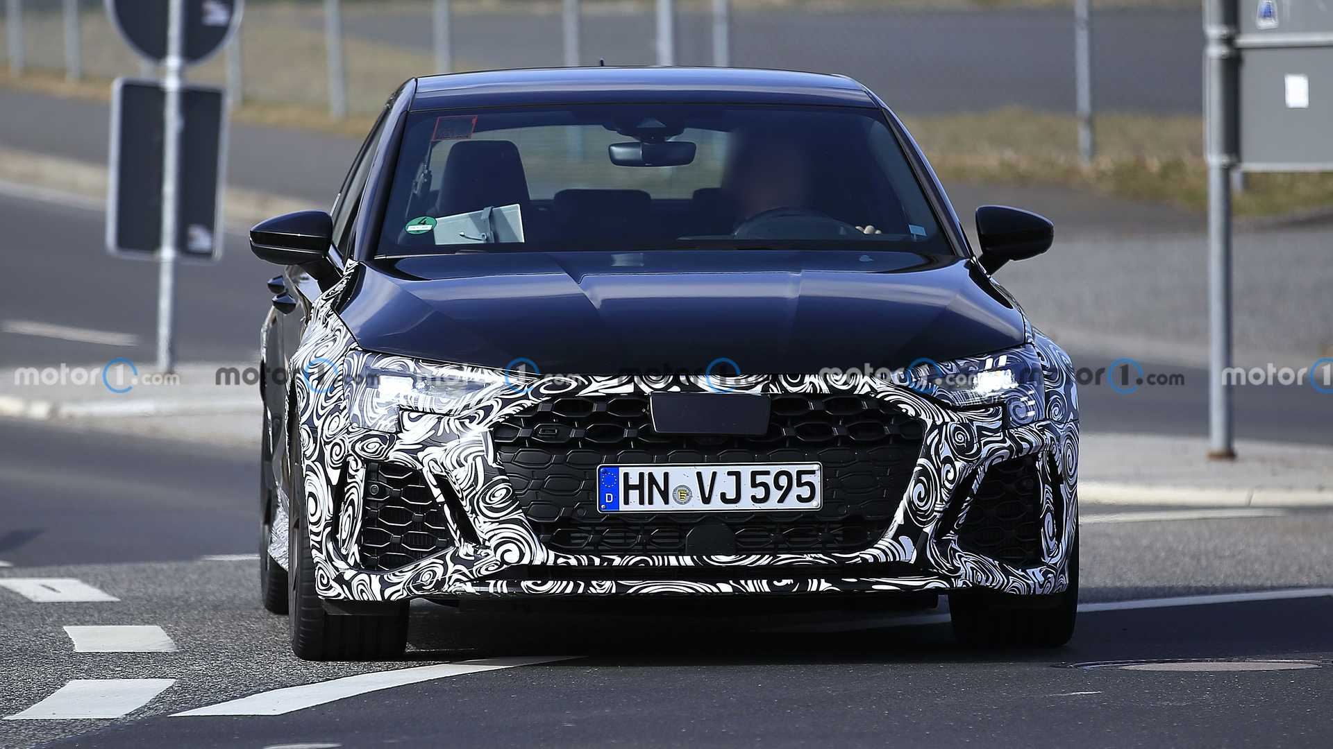 The first time the next-gen Audi RS3 was spied testing in a mule body was in May 2019. There have been numerous sightings since then, most showing a heavily cladded production body, and today's batch of photos finally lets us see the new RS3 in its full glory.