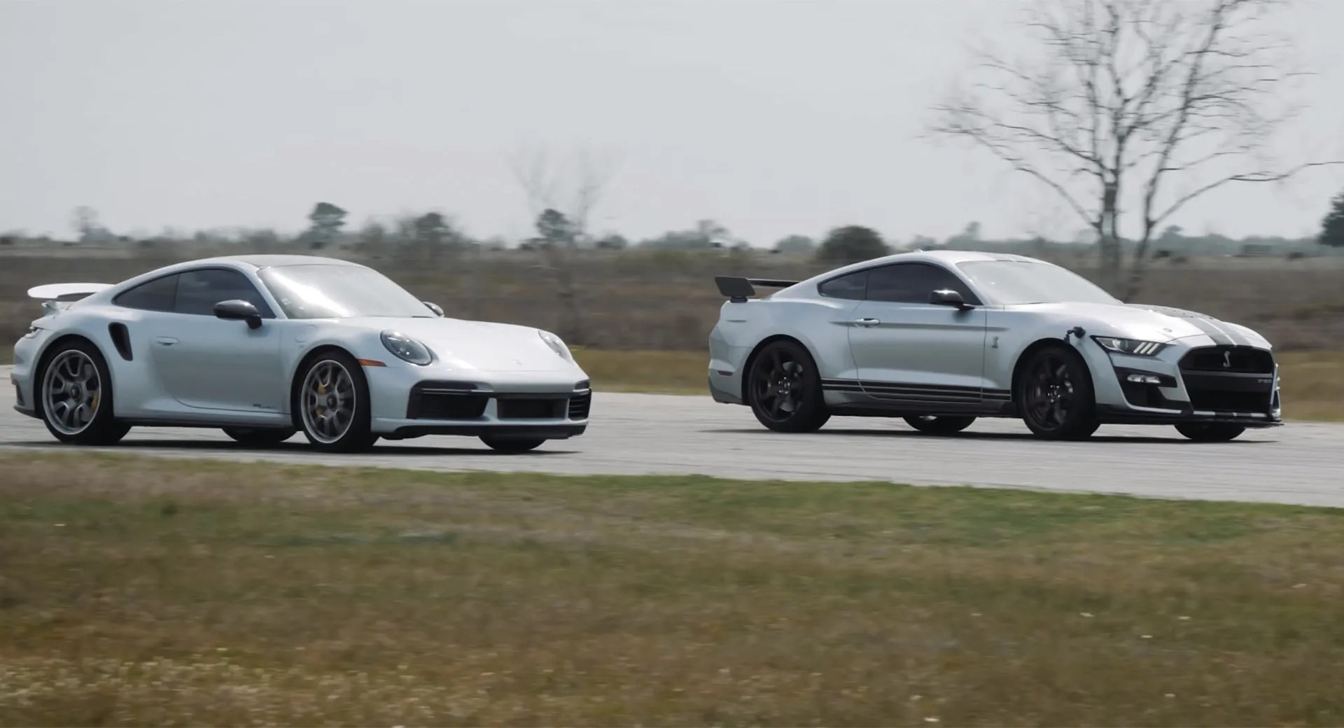 In its ultimate Shelby GT500 guise, the Ford Mustang has crazy acceleration dynamics, but still lags behind the legendary Porsche 911 Turbo S on a drag strip. Hennessey Performance set out to find out how much extra muscle it may need to match the German supercar.