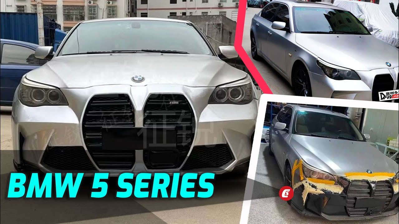 We have seen plenty of unconventional car mods over the years, but this G80 M3 grille replica for the BMW E60 5-Series is just beyond good and evil.