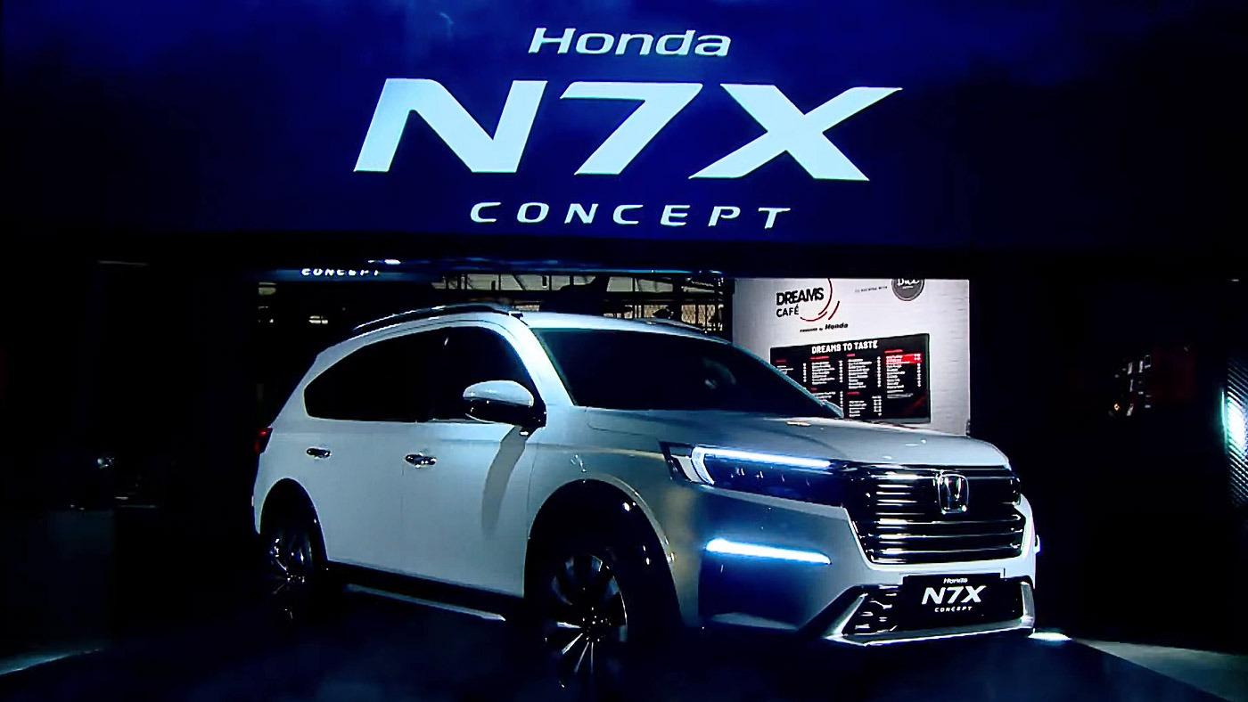 Японский автомобилестроитель «Хонда» показал концептуальный N7X, который показывает, каким будет преемник BR-V.