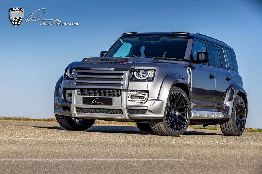 Almost a year ago, German tuning house Lumma Design showed us the first sketches of an upcoming body kit for the 2021 Land Rover Defender – and here come photos of the first finished kit on a car.