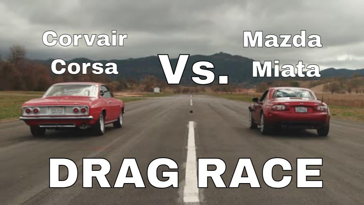 Как мы уже упоминали в своих публикациях, Chevrolet Corvair был печально известен тем, что считался опасным на любой скорости. После решения вопросов безопасности производитель выпустил еще более быструю версию под названием Corsa Corvair. Как раз такой вариант недавно сравнили с Mazda MX-5 2008 года в гонке на четверть мили.