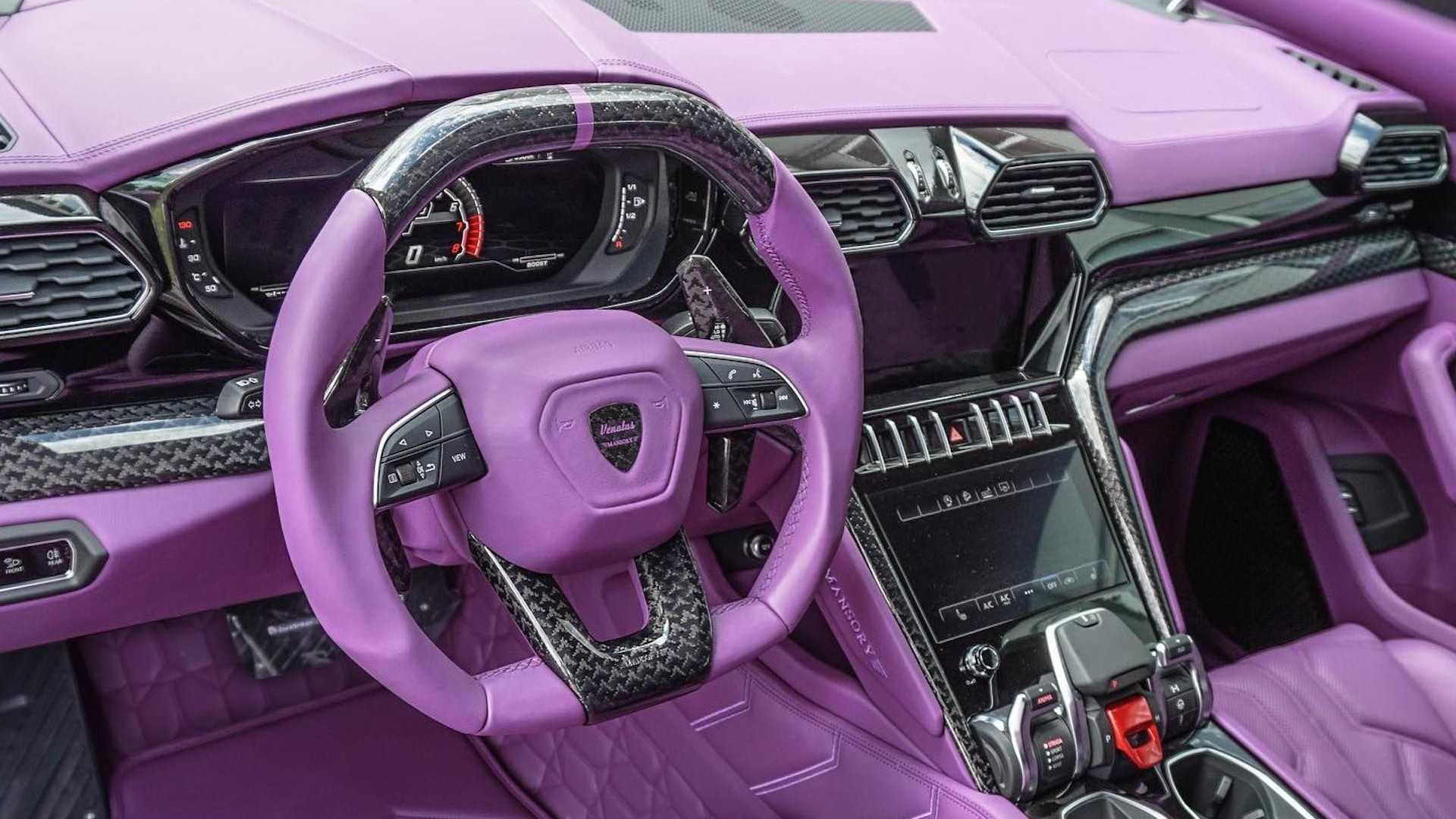 Not only will Lambo refuse to trim your Urus cabin in violet color, it might also call fashion police just for that one request. Tuners like Mansory are a different story altogether: you pay for what you want, you get it.