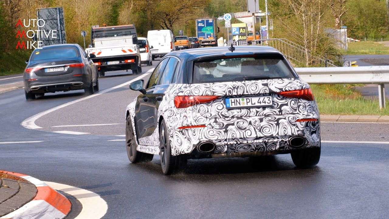 Audi is getting its next-gen RS3 hot hatch ready to rumble at the Nürburgring, and if a recent spy video is any indication, the 'rumble' part is a massive success.