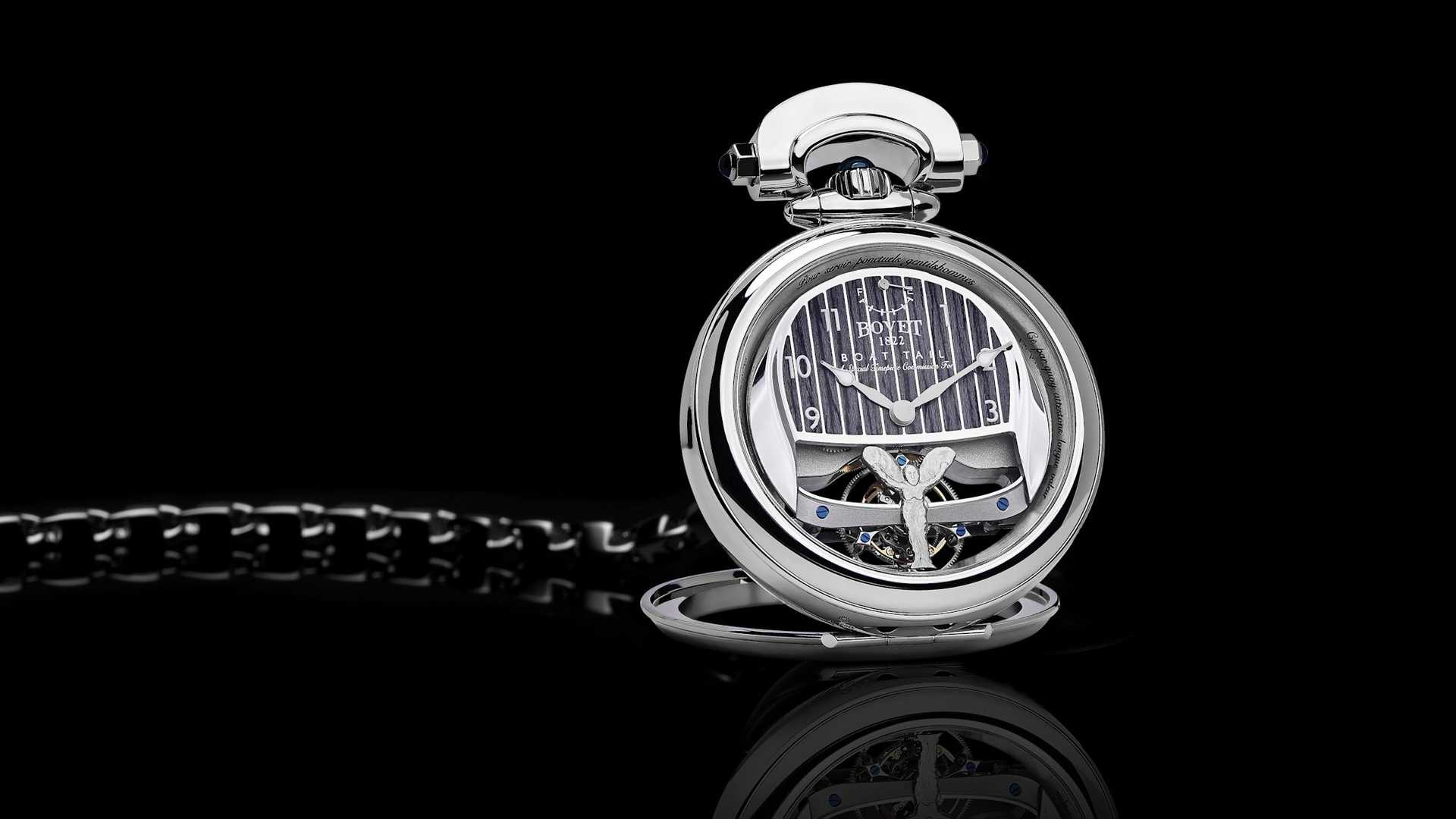 Rolls-Royce has also been into designing car-themed wristwatches lately: the unique accessory pictured here will be worn by the owner(s) of the opulent Boat Tail convertible.