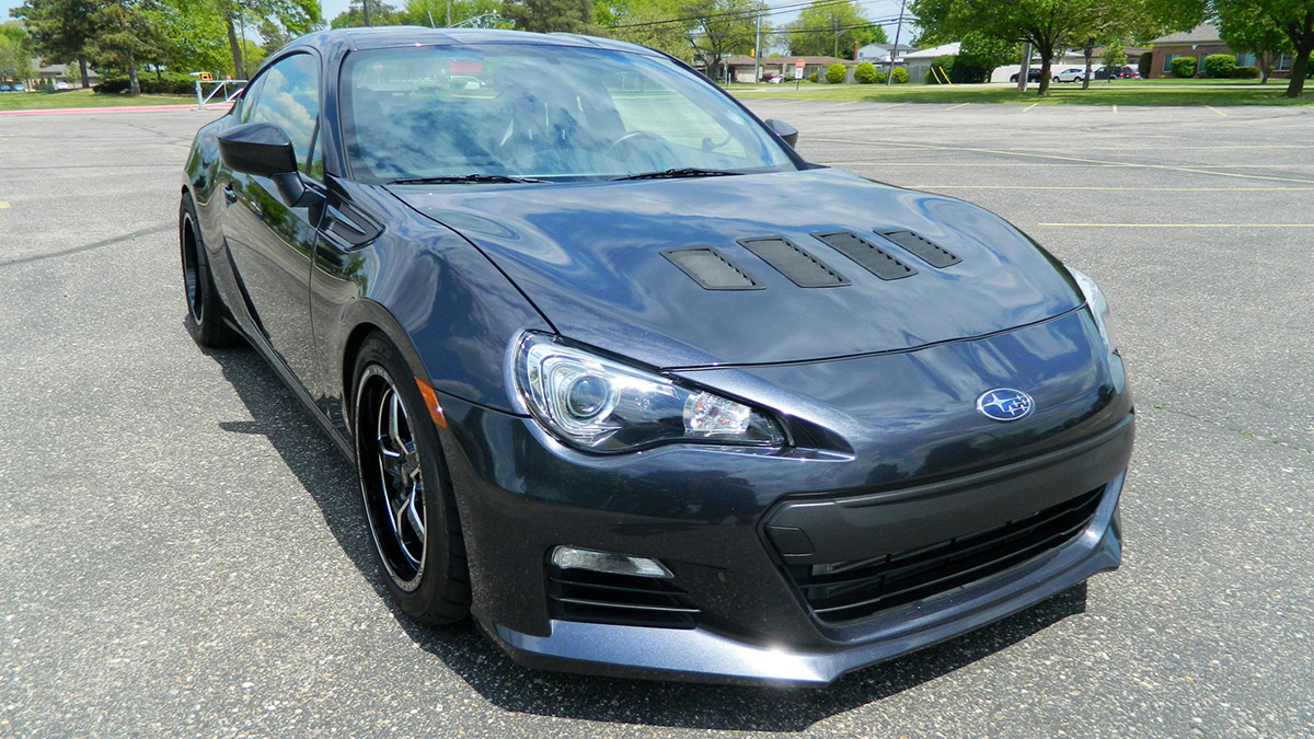 This Subaru BRZ isn't nearly stock, having traded its standard two-liter naturally aspirated mill for a Toyota Supra 2JZ-GTE boosted through the roof.