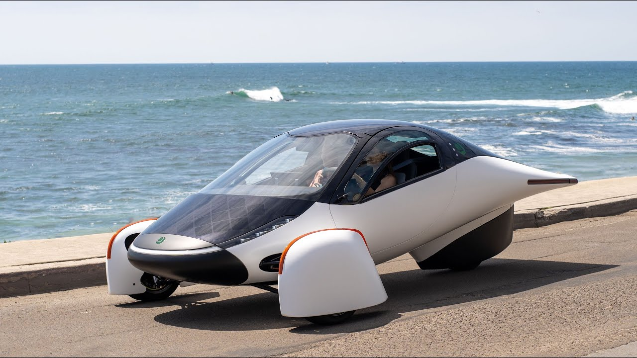 Aptera has posted a video starring its three-wheeled electric car named Sol, which it claims can cover up to 1,000 miles (1,610 km) without recharging.