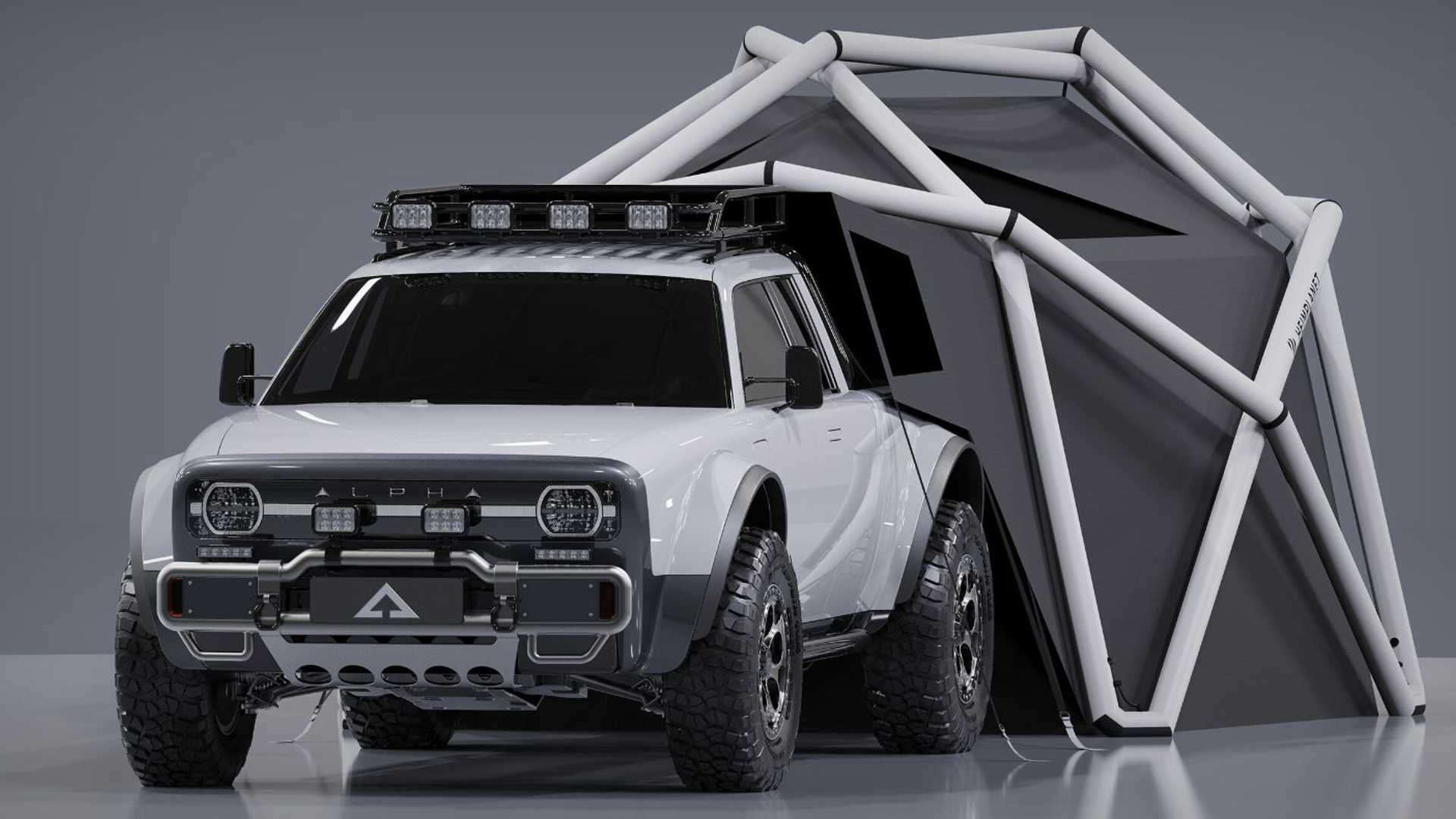 Budding carmaker Alpha Motors has cooperated with German travel equipment marque Heimplanet to design a camping tent for its upcoming electric mini-truck named Wolf. No launch dates or prices have been revealed so far.