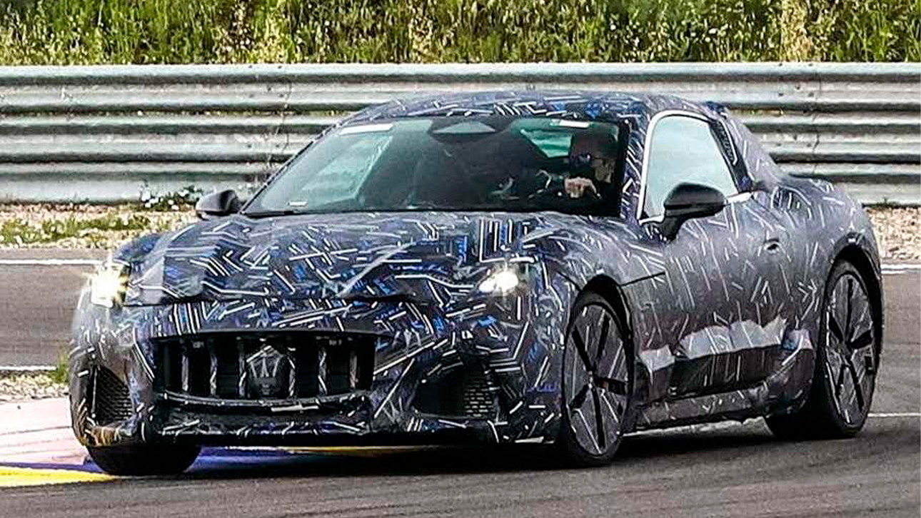 Maserati has shared some images of its next-gen GranTurismo model, which will have an all-electric version for the first time in the Italian marque's history.