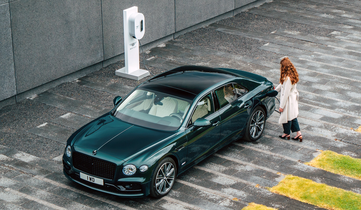 Bentley has announced a plug-in hybrid variant of its Flying Spur sedan, powered by the same 2.9-liter turbocharged V6 as the Porsche Panamera 4 E-Hybrid and the Bentley Bentayga Hybrid (although the latter version has three liters of displacement).