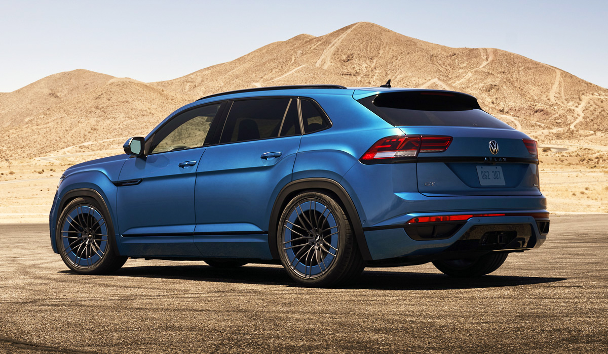 Volkswagen North America has decided to warm up public interest towards the Mk.8 Golf GTI and R models by putting a turbo four-pot under the hood of an Atlas.
