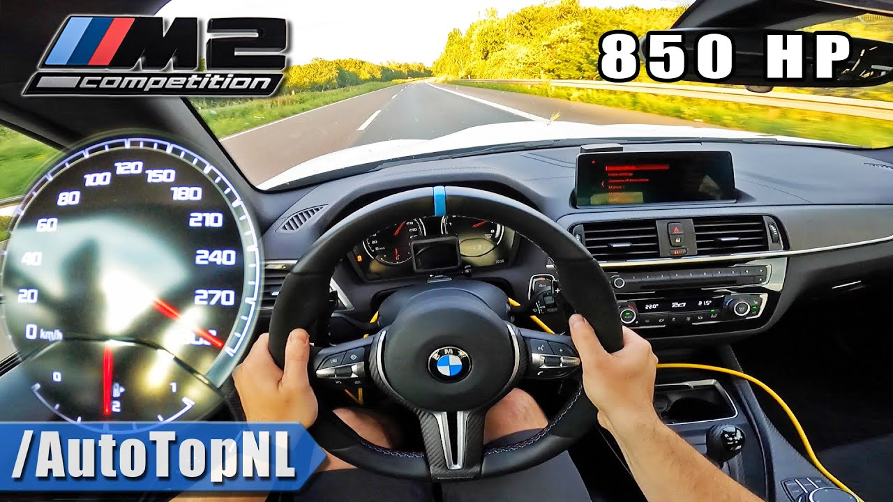 Despite being rather compact, the BMW M2 Competition manages to accommodate a 3.0-liter I6 with dual turbos under the hood, which produces 411 PS (405 hp / 302 kW). This example recently tested by AutoTopNL has been boosted to over twice that amount, though.