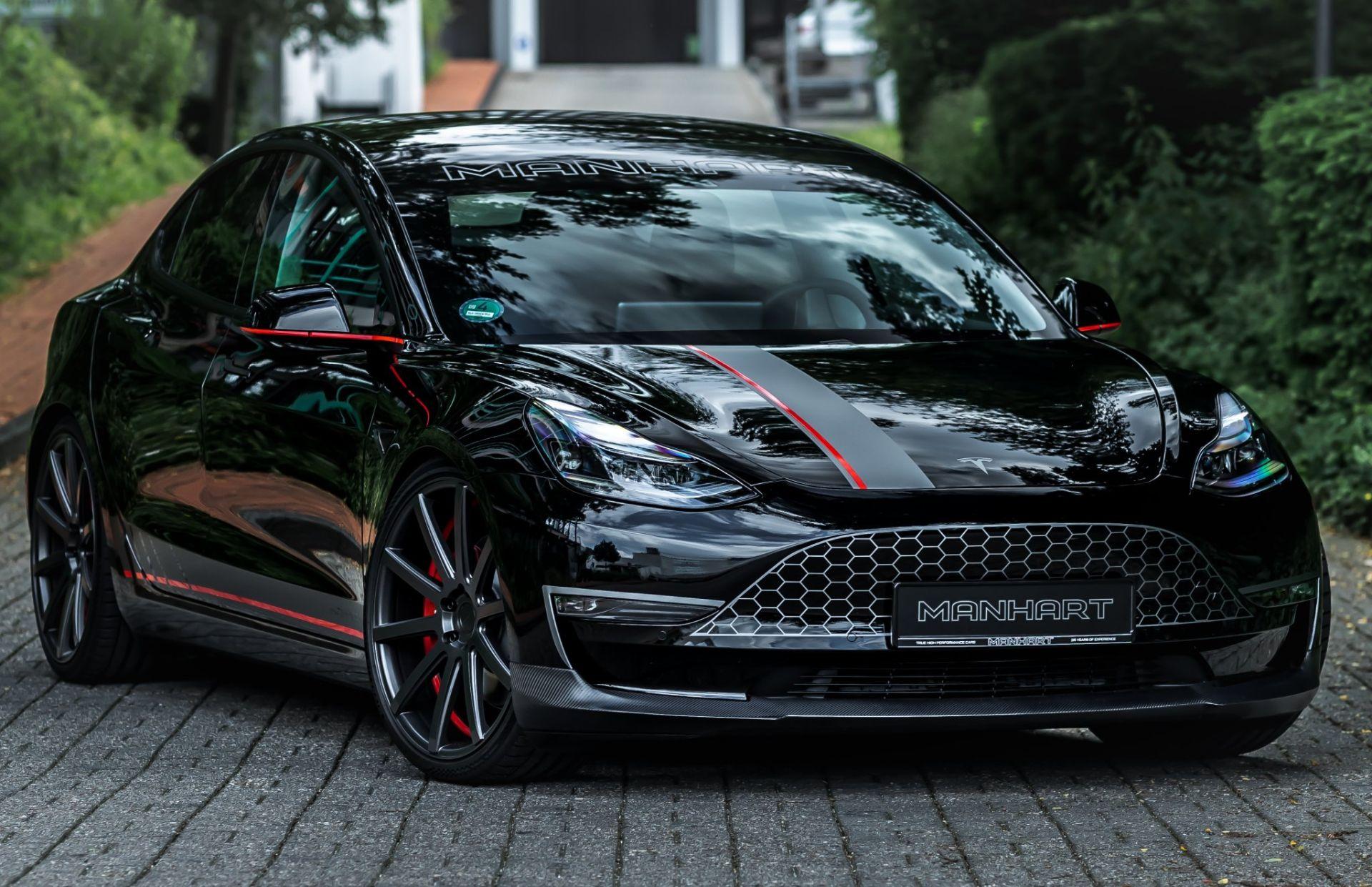 Пока что крайне мало ателье во всём мире решаются на тюнинг электрических силовых установок, но немцы из Manhart решили удивить общественность и разработали комплексный апгрейд для Tesla Model 3 Performance.