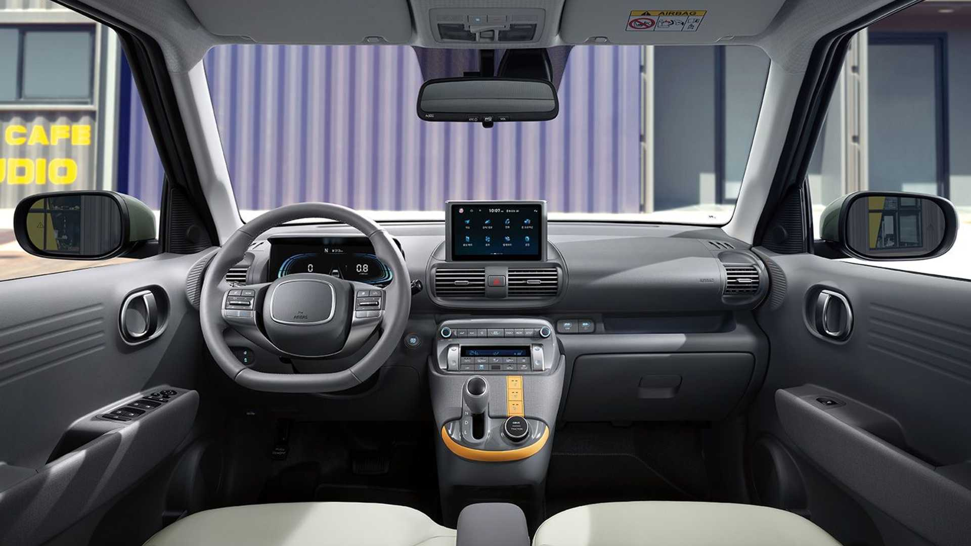 Hyundai introduced the subcompact C-SUV Casper a couple of weeks ago, but never showed its interior – until now.