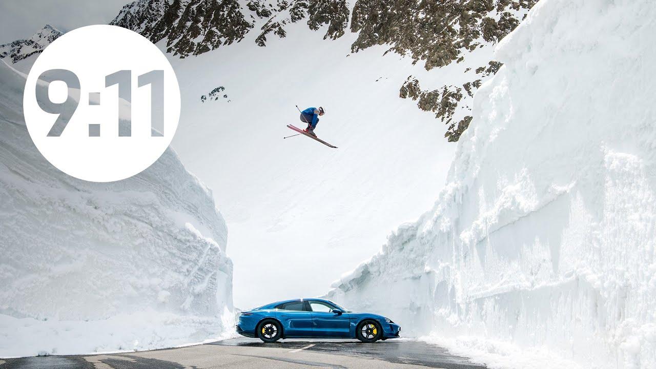 Фирма Porsche опубликовала видео о воссоздании знаменитого фото 1960-го, на котором лыжник Эгон Циммерманн прыгает через припаркованное меж двух снежных скал купе 356 B. В новой интерпретации приняли участие олимпийский чемпион Аксель Лунд Свиндаль и электромобиль Porsche Taycan Turbo.