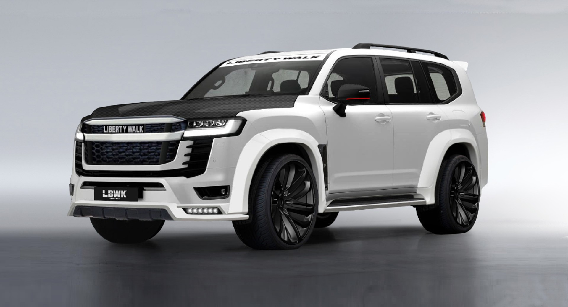 Japanese tuning shop Liberty Walk is widely known for its over-the-top body kits for supercars, so it came as a surprise that it wanted to design a package for the recently introduced Land Cruiser 300, a body-on-frame SUV.