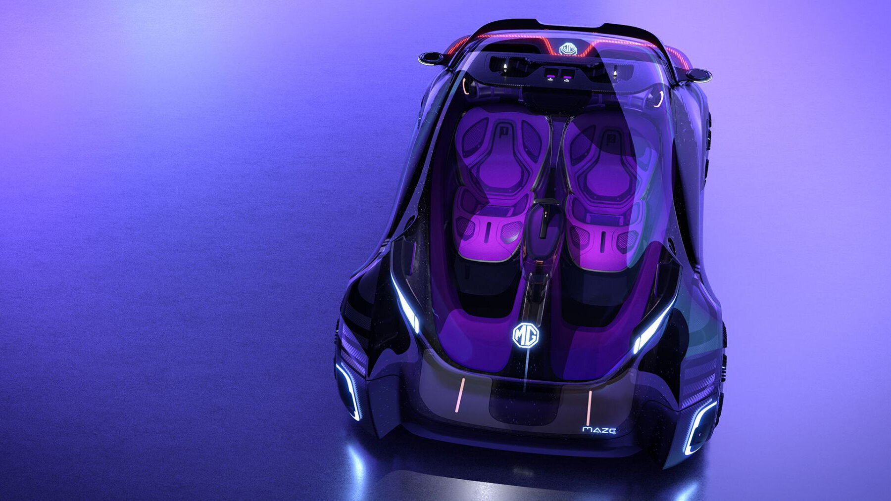 MG Motor Company, part of Chinese SAIC Group, has revealed the first images and specifications of its Maze Concept, a futuristic design study inspired by video games.