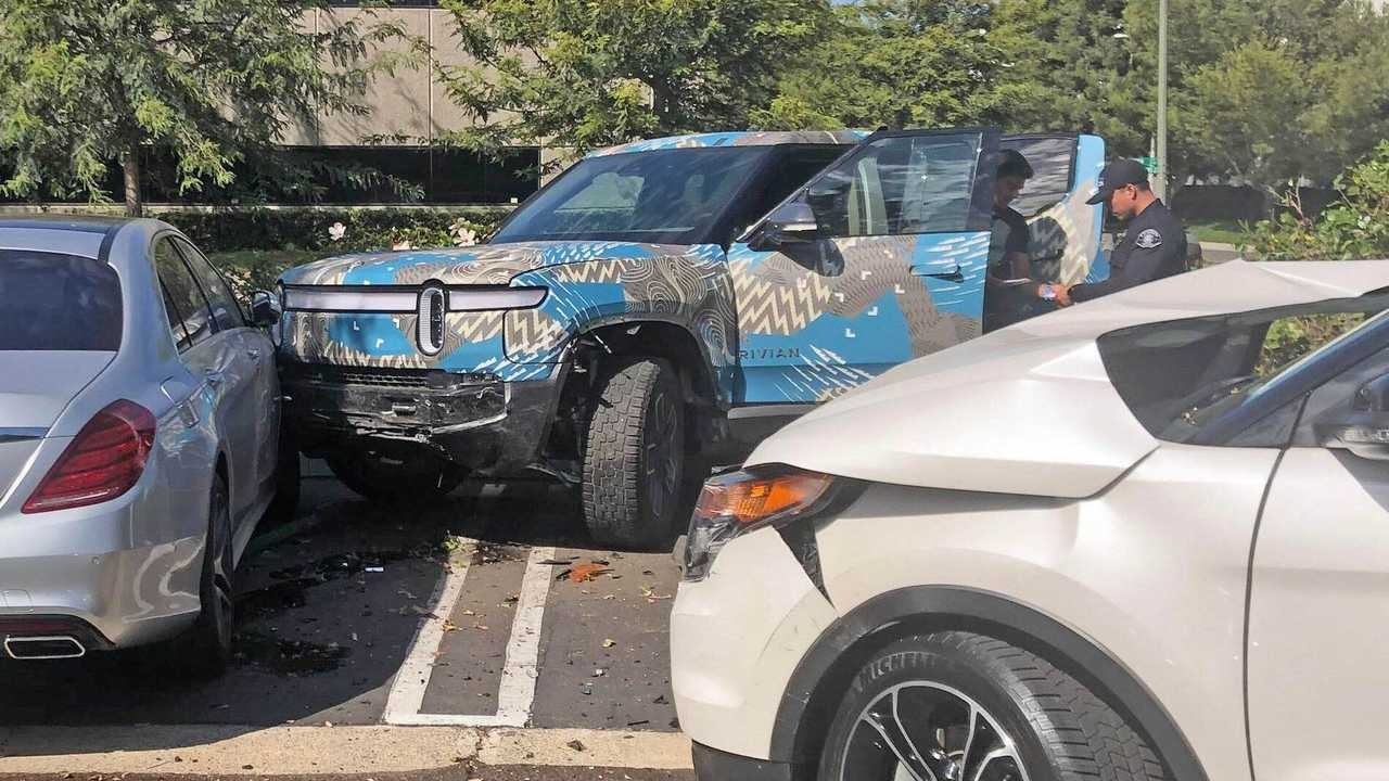 Rivian has already begun assembling the R1T Launch Edition line of electric pickup trucks, but never stopped public road tests. One of the test trucks has gotten into an incident, suggesting that there might be a reason behind continued testing.
