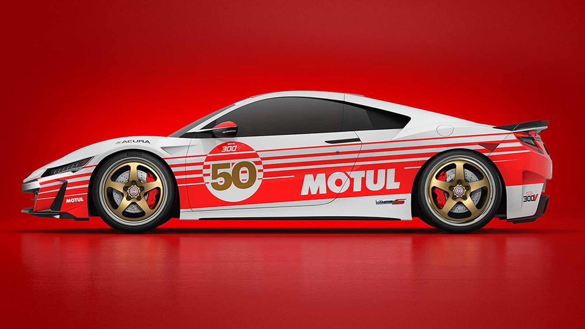 French oil manufacturer Motul is well known in the professional motorsports world thanks to supplying teams with high-quality racing oil and putting its colors on racecars from time to time. Here's an Acura NSX Type S with a freshly applied Motul livery.