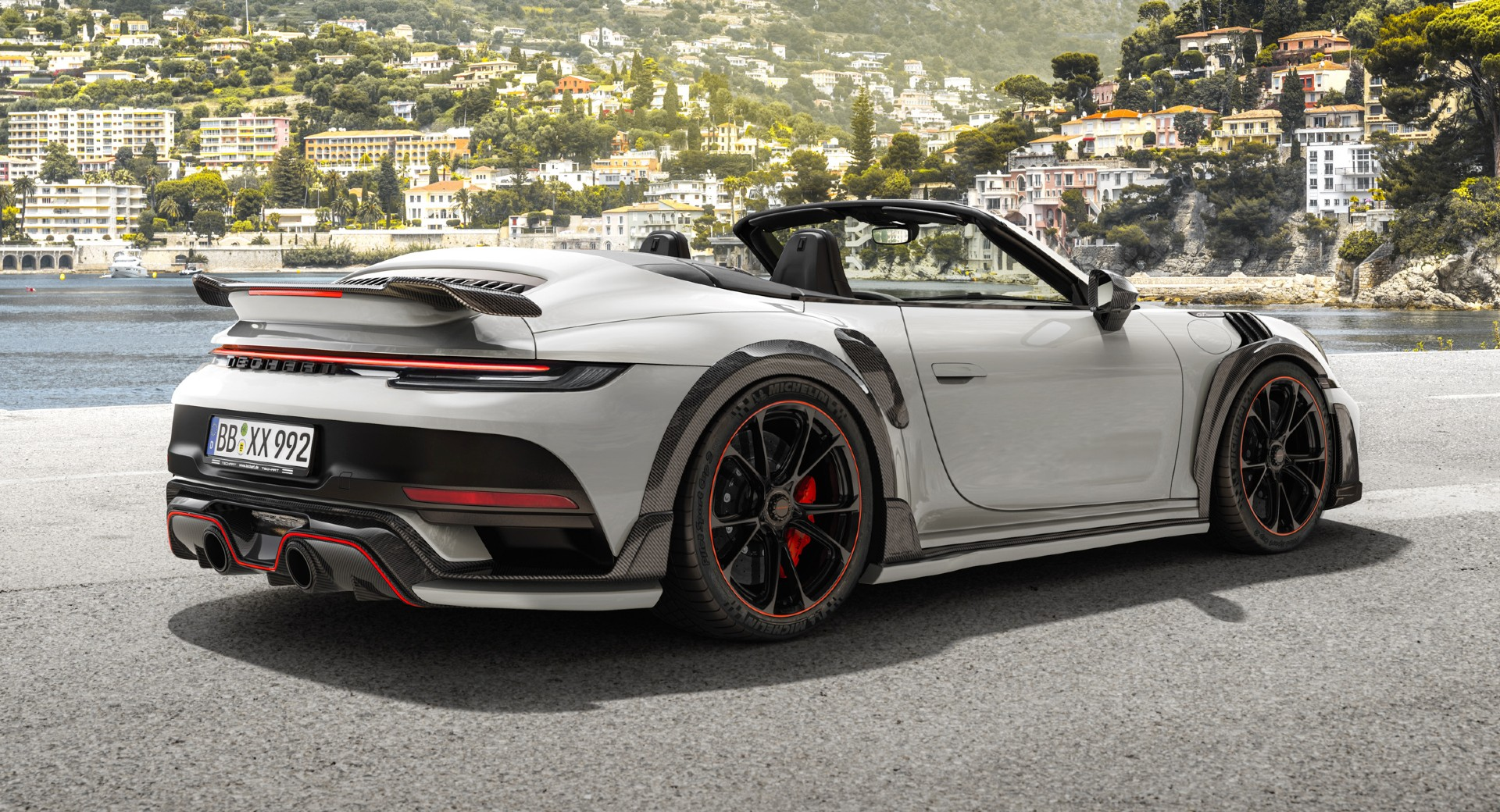 German tuner Techart did a thorough job on the Porsche 911 (992) Turbo and Turbo S Coupe improving their power and looks, and now a similar tuning package comes for the convertible 911.