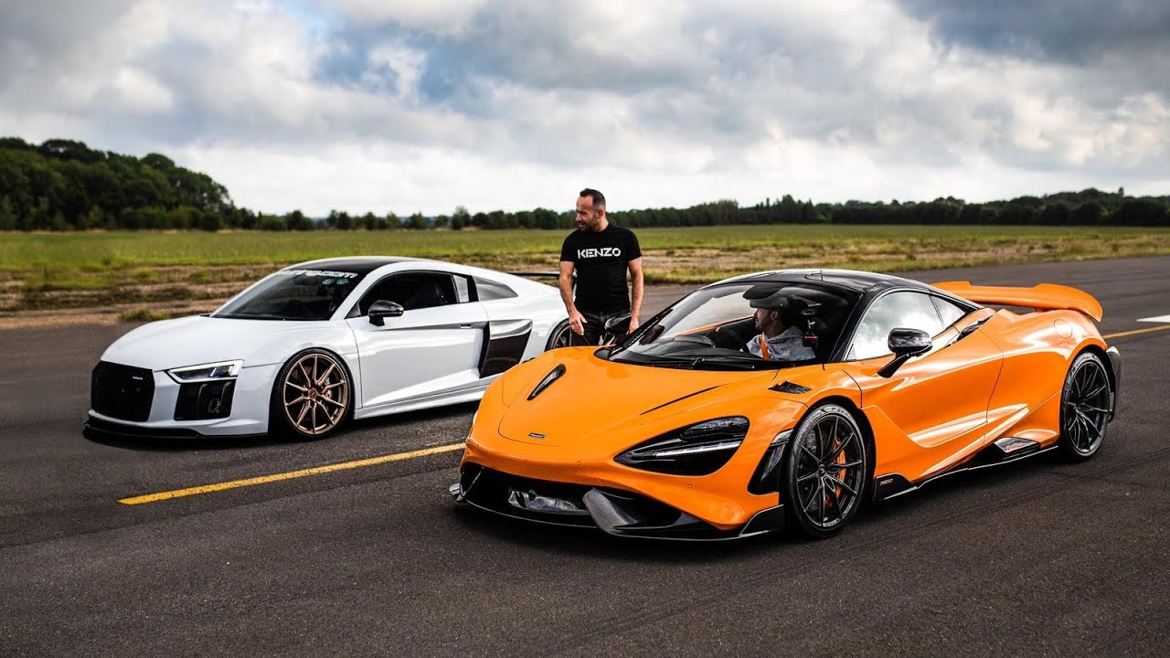 Chances are you have already heard how insanely fast the McLaren 765LT is on a drag strip. However, this time around the supercar faced off a tuned Audi R8 on a regular, non-prepared runway. An R8 with 1.5 times the power, no less!