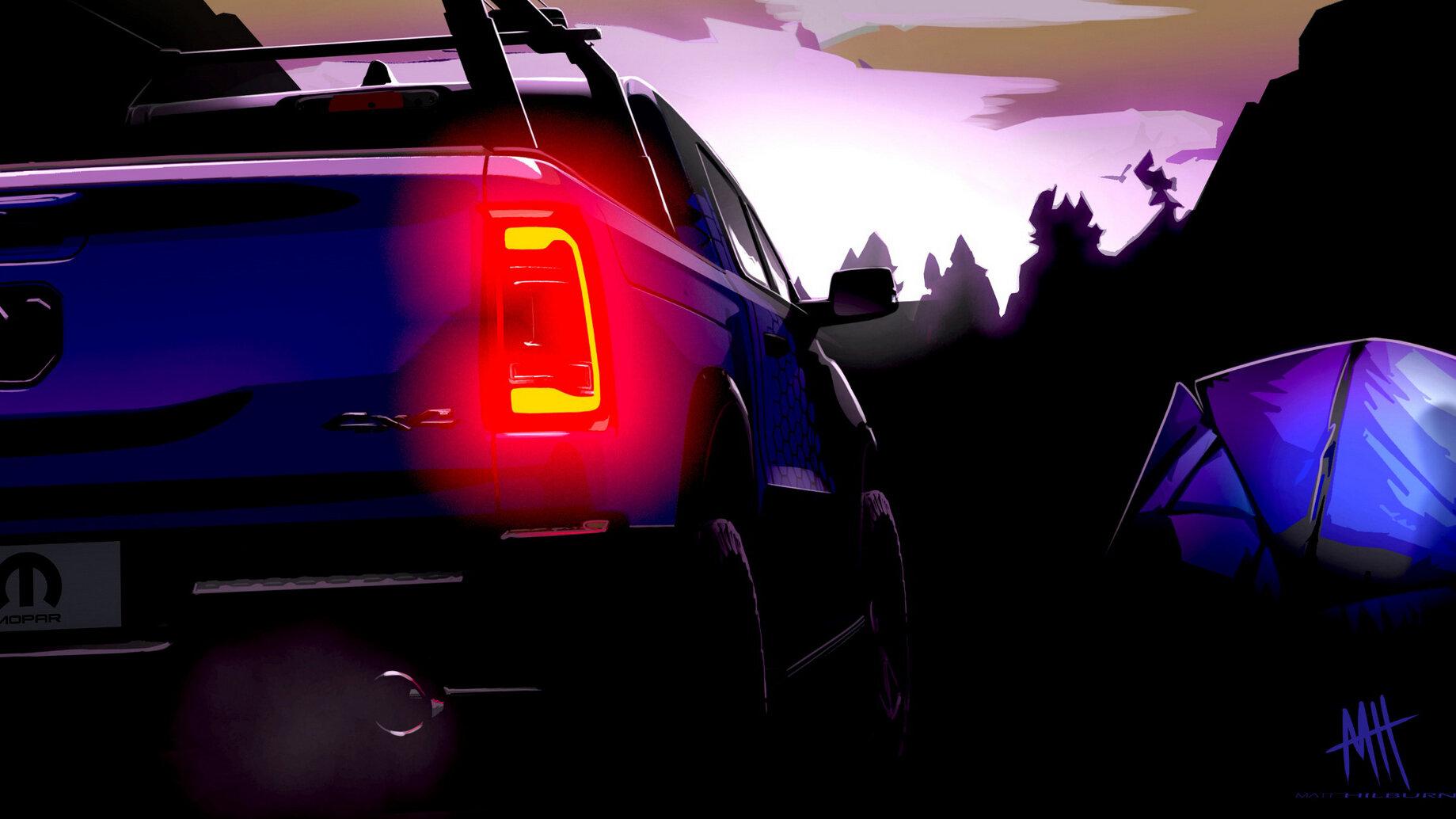 Stellantis поделился пятью тизерами моделей, которые Mopar покажет в этом году на шоу SEMA. На изображениях продемонстрированы три Джипа и пара Рэмов, предназначенных для разных условий езды, причём минимум два шоу-кара будут гибридами, а один вдохновлён военной историей марки Jeep.