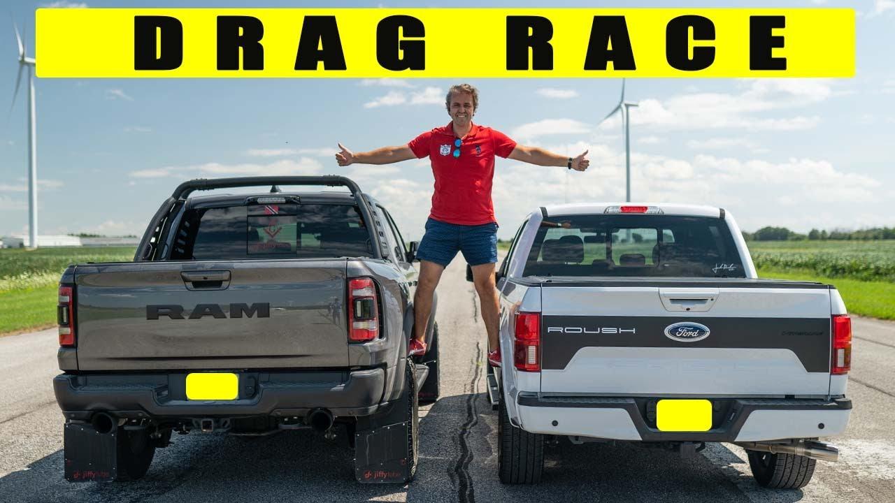На рынке производительных бензиновых пикапов могучий Ram 1500 TRX с некоторых пор занимает позицию лидера, но его уверенно догоняет Ford F-150 с тюнингом от ателье Roush. Или всё-таки не догоняет?
