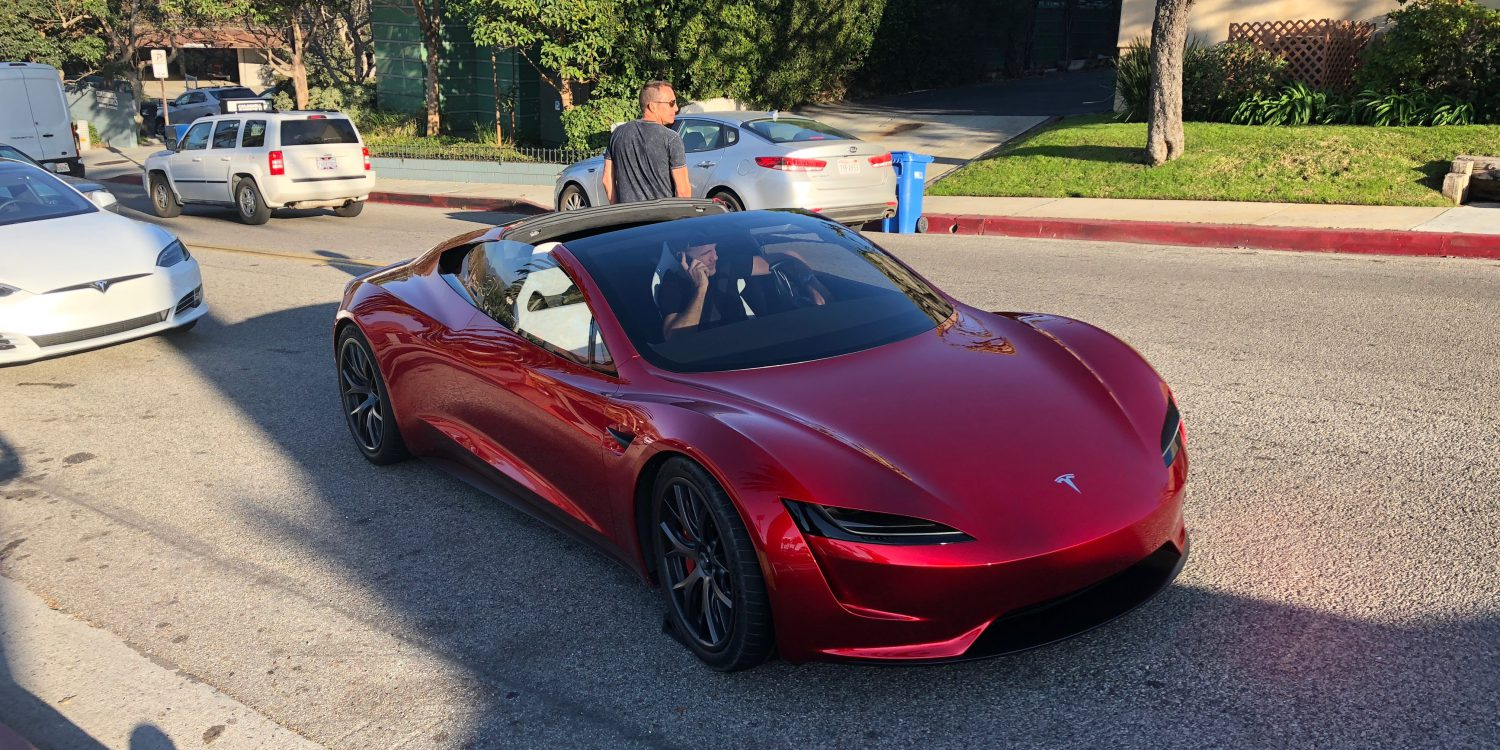 The next-gen 2020 Tesla Roadster, driven by none other than the company's Chief Designer Franz von Holzhausen, has been photographed on a public road in Los-Angeles, U.S.A.