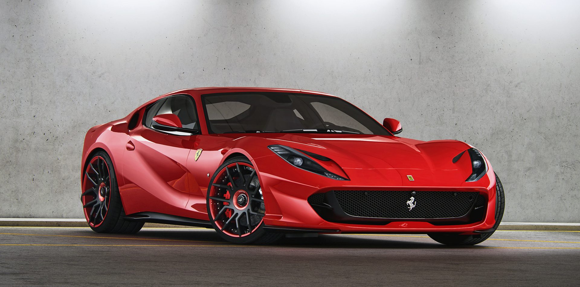 The stock Ferrari 812 Superfast comes with a V12 monster engine which can output up to 800 hp and 718 Nm of torque