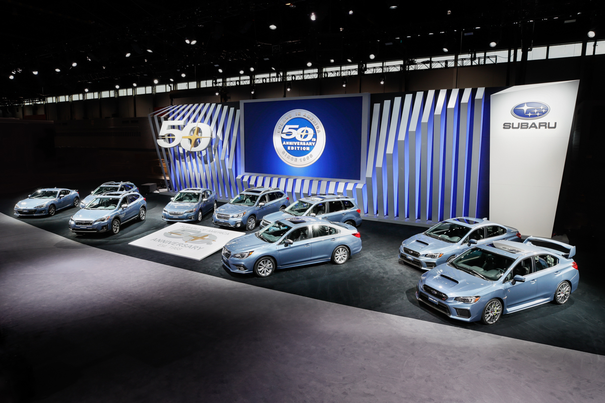 Японский автогигант Subaru выпустит специальные версии всех моделей, реализуемых в США, которые получили название 50th Anniversary