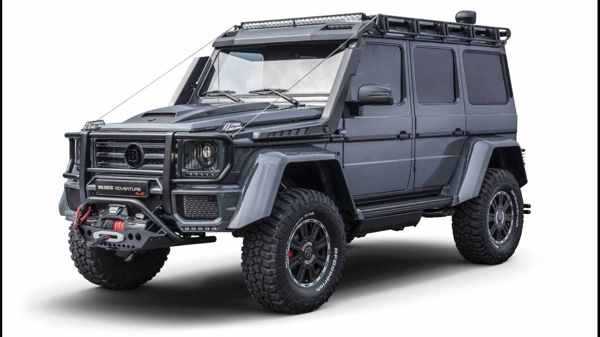 The Brabus car tuner team came forth with a video showing an extremely heavily-modded Mercedes-Benz G500 4×4² Adventure