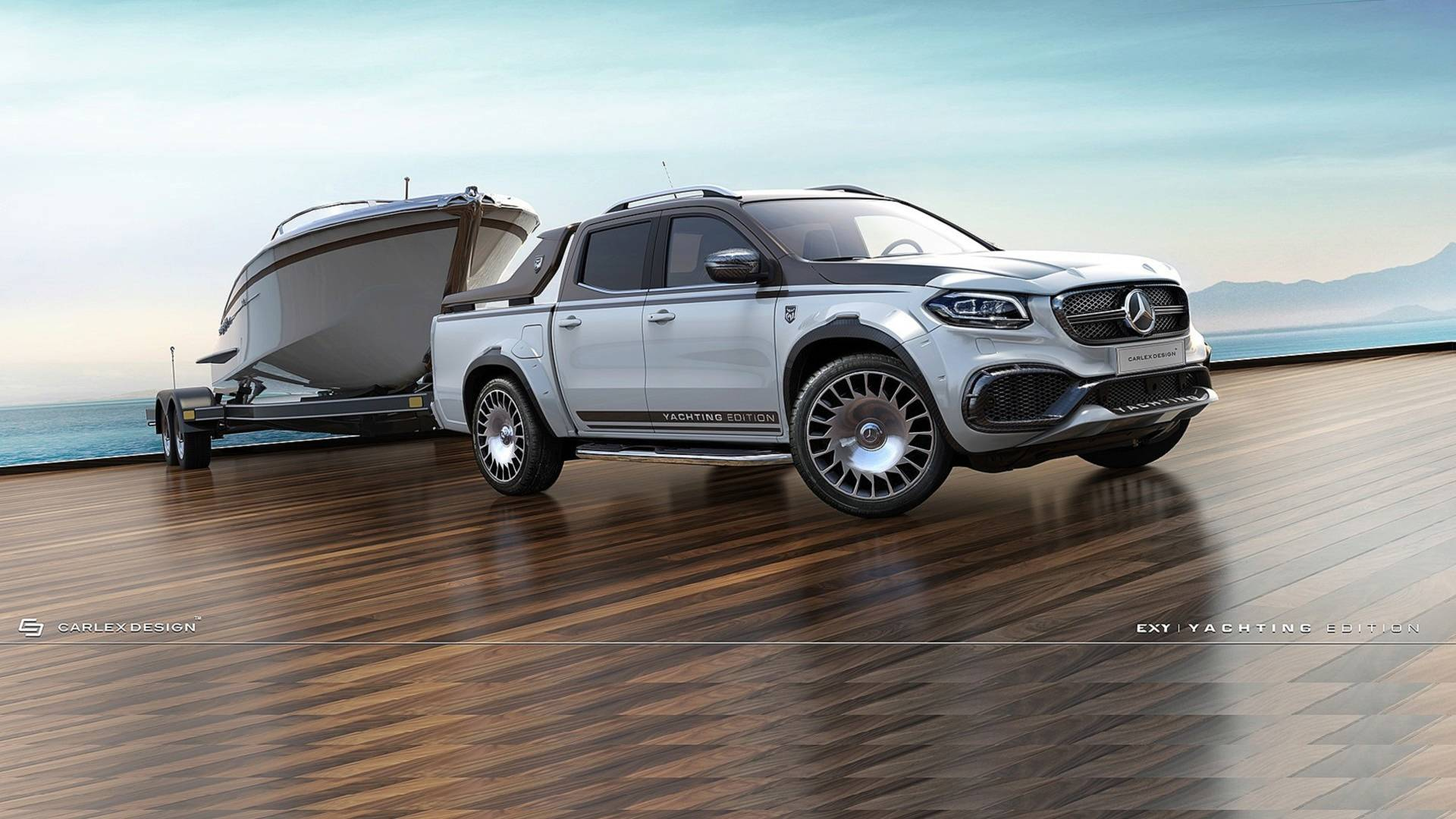 Carlex Design has revealed its take on the Mercedes-Benz X-Class pickup truck, complete with a magnificent all-carbon body kit and certain body parts borrowed from the Maybach S650