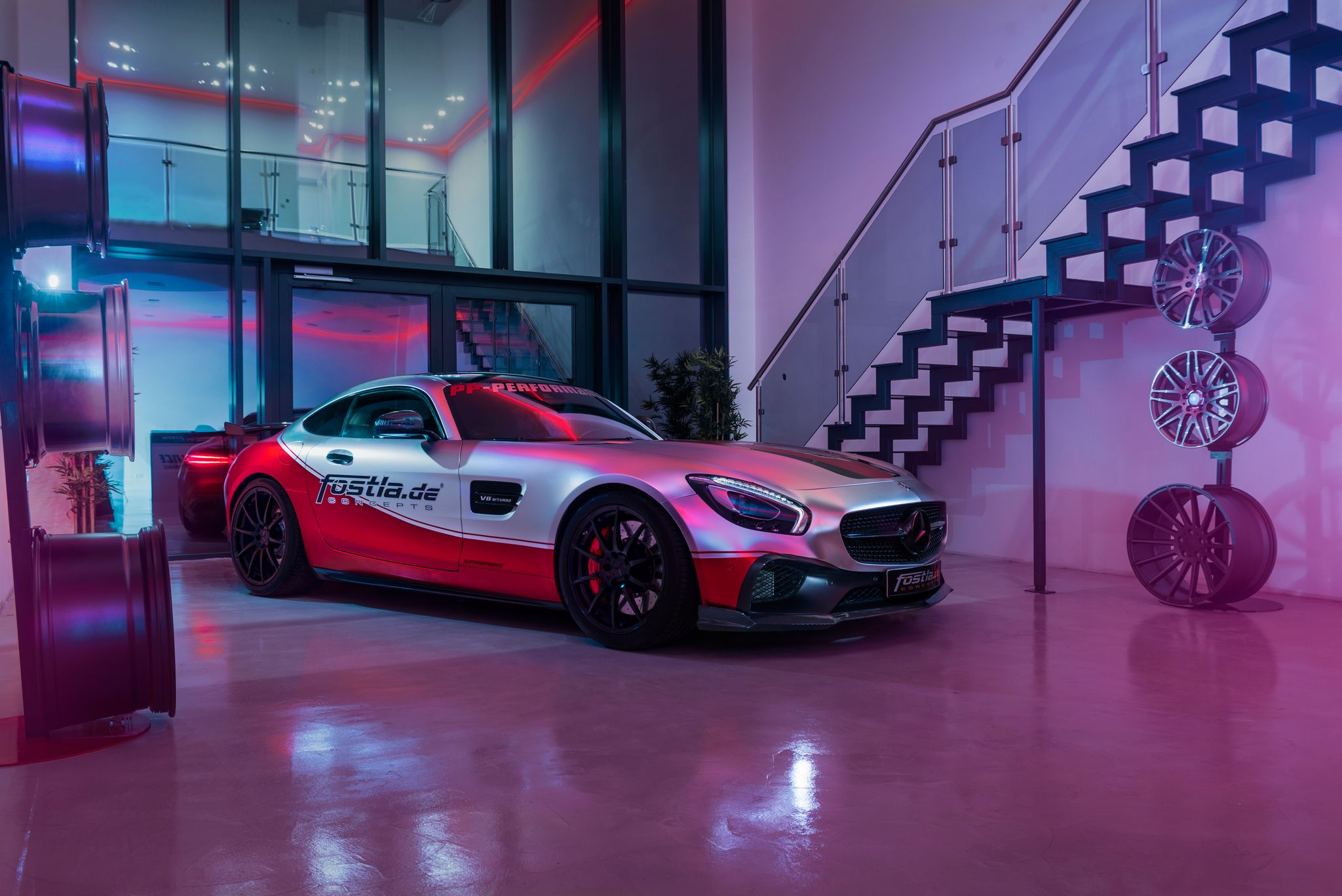 The German car design studio Fostla has revealed an options package for the Mercedes-AMG GT S sport coupe