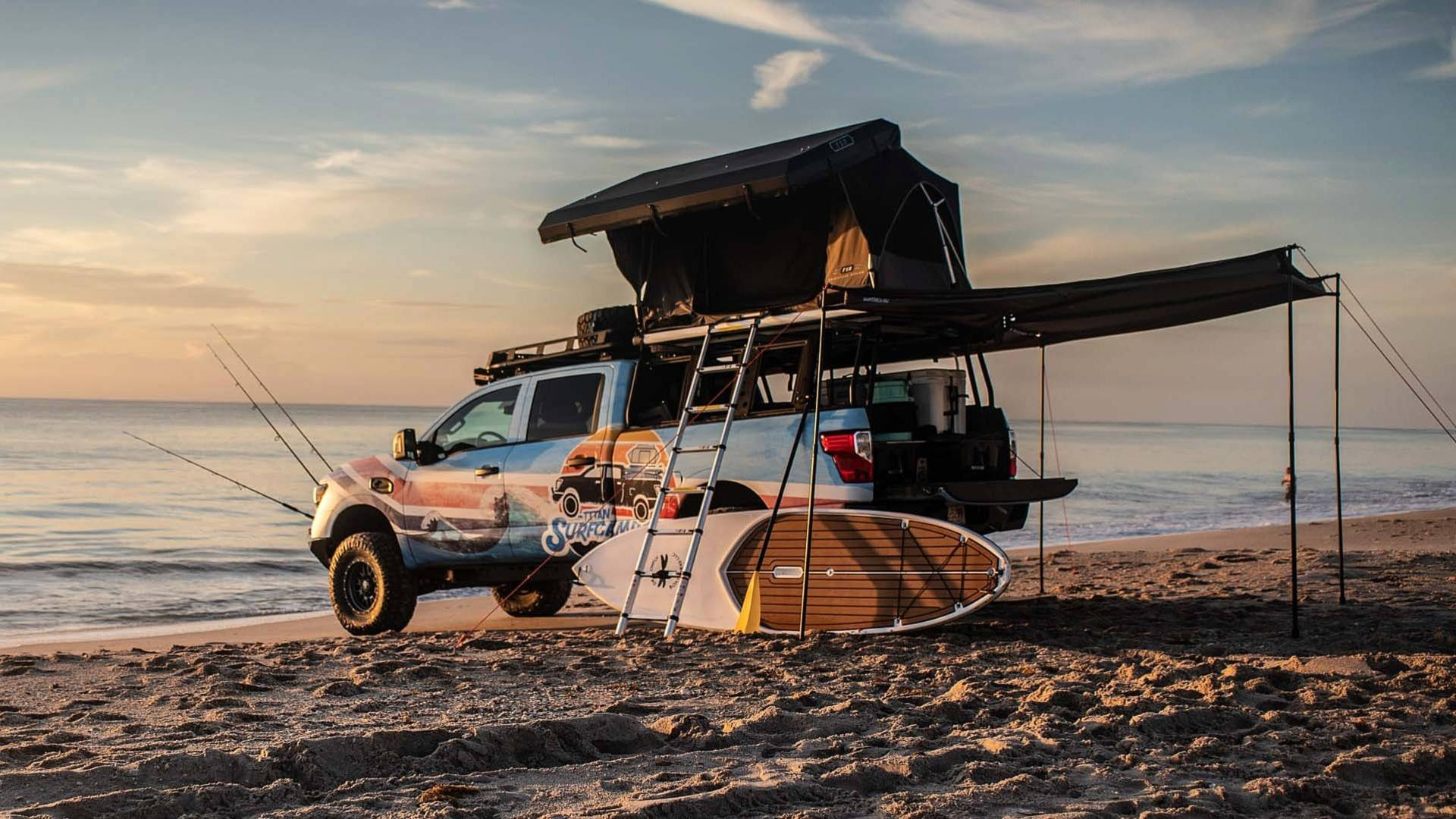 Those of us who are into fishing, rowing or just spending some nice time at a beach will appreciate the new Nissan Titan Surfcamp