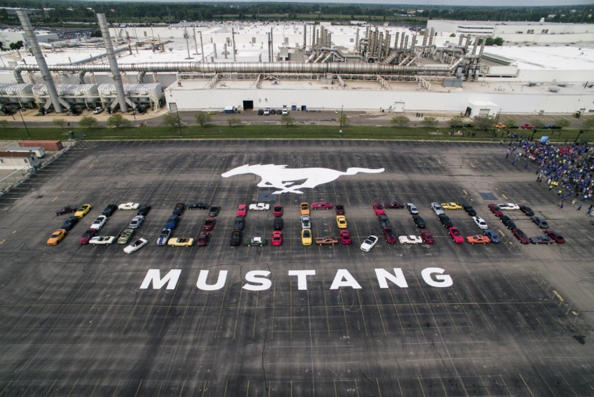 Car manufacturer Ford has assembled 10,000,000 copies of its Mustang model