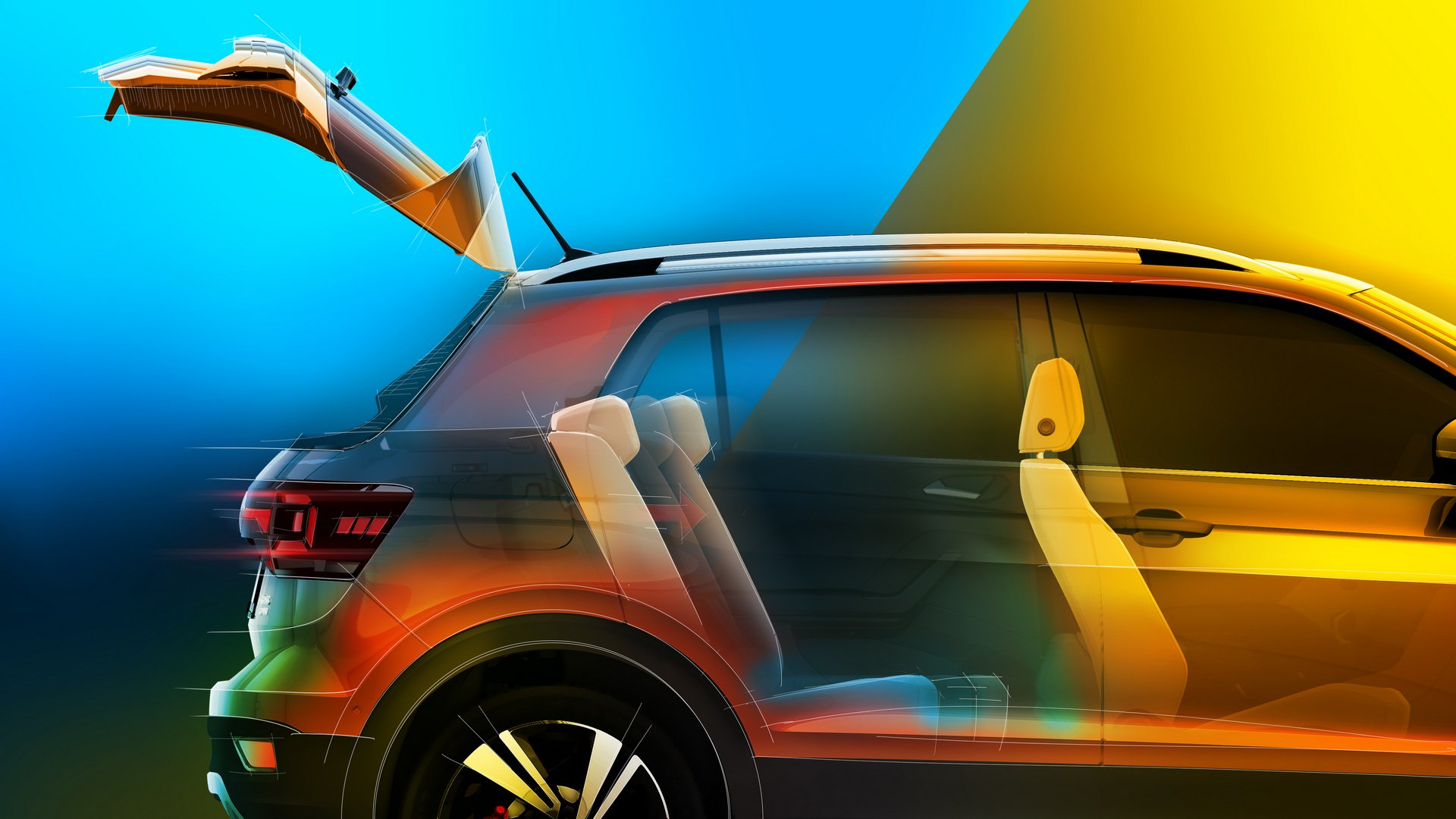 Volkswagen AG has revealed some further specifics regarding the interior of its upcoming T-Cross mini-SUV along with a few new photos