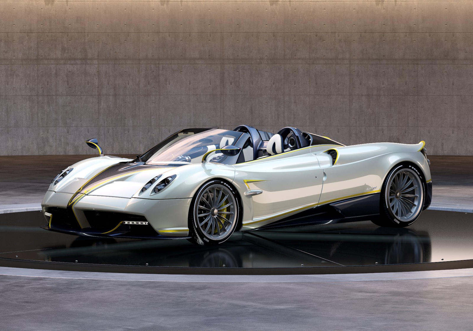 Italian car manufacturer Pagani has come to the Concours d'Elegance in California with a special edition of its Huayra roadster