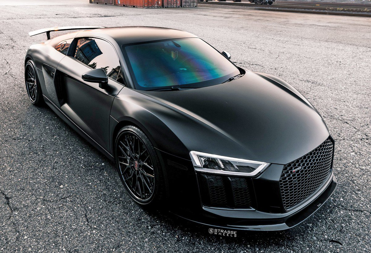 Strasse Wheels has introduced a unique All-Black Audi R8 V10 Plus which can match the Lamborghini Huracan both in style and in performance