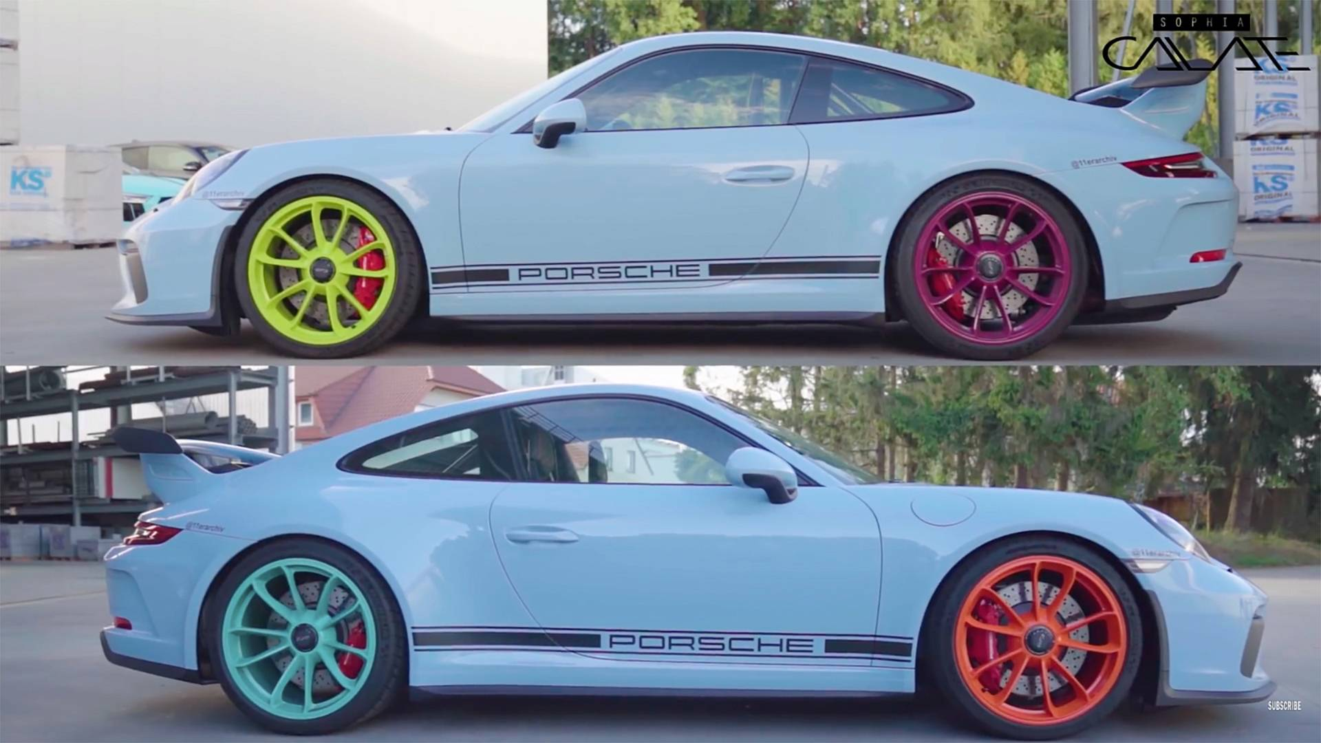 You'd think the color choice was random, but it really wasn't. He consulted Porsche for 7 months while searching for the perfect palette to apply